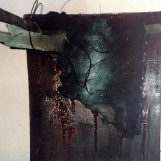 Can Serrat Barcelona/Installation #1<br>2006<br>30 x 30 1/2<br>Acrylic, mixed media, on gallery wall&lt;br&gt;&lt;em&gt;&lt;/em&gt;