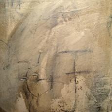 Studies in Encaustic #1<br>2008<br>1 3/4 x 9 1/2<br>Oil, graphite, encaustic, on canvas board&lt;br&gt;&lt;em&gt;&lt;/em&gt;