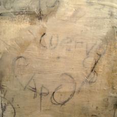 Studies in Encaustic #2<br>2008<br>1 3/4 x 9 1/2<br>Oil, graphite, encaustic, on canvas board&lt;br&gt;&lt;em&gt;&lt;/em&gt;