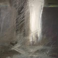 Sudden Solitude <br>2014<br>24 x 48<br>Oil, mixed media, on canvas&lt;br&gt;&lt;em&gt;&lt;/em&gt;